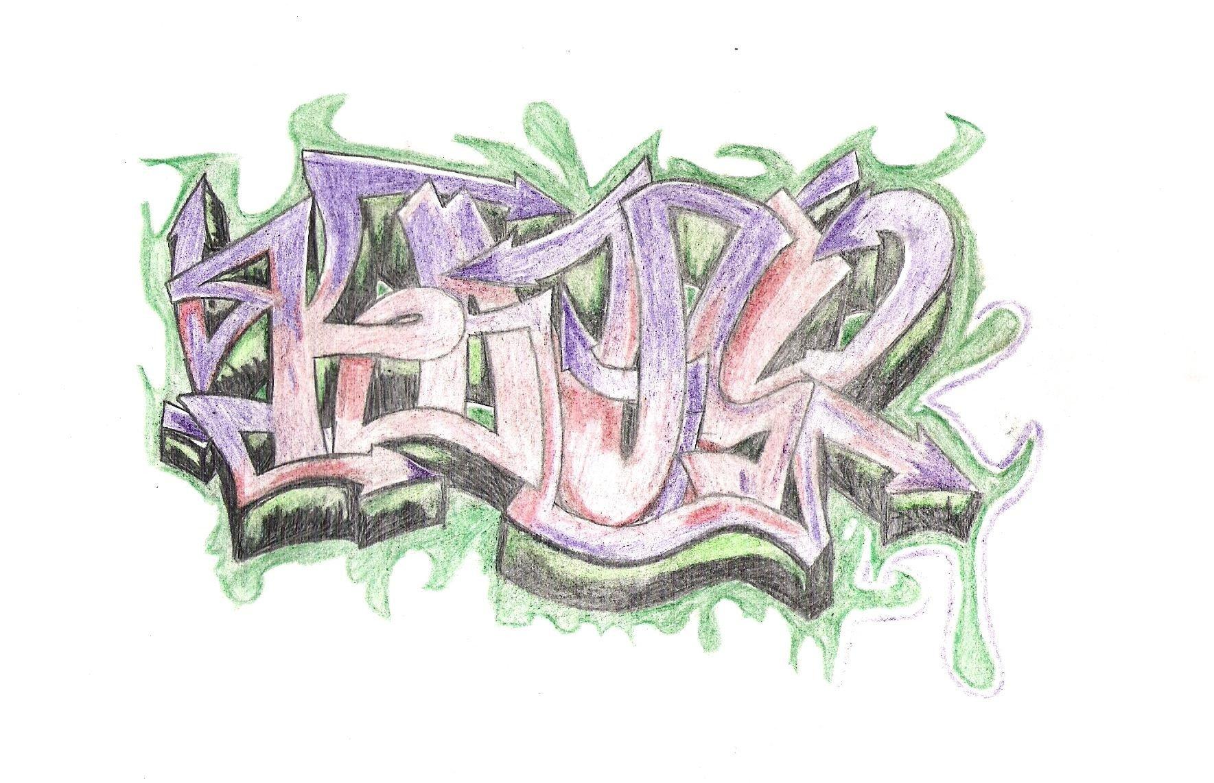 Граффити карандашом для начинающих картинки
