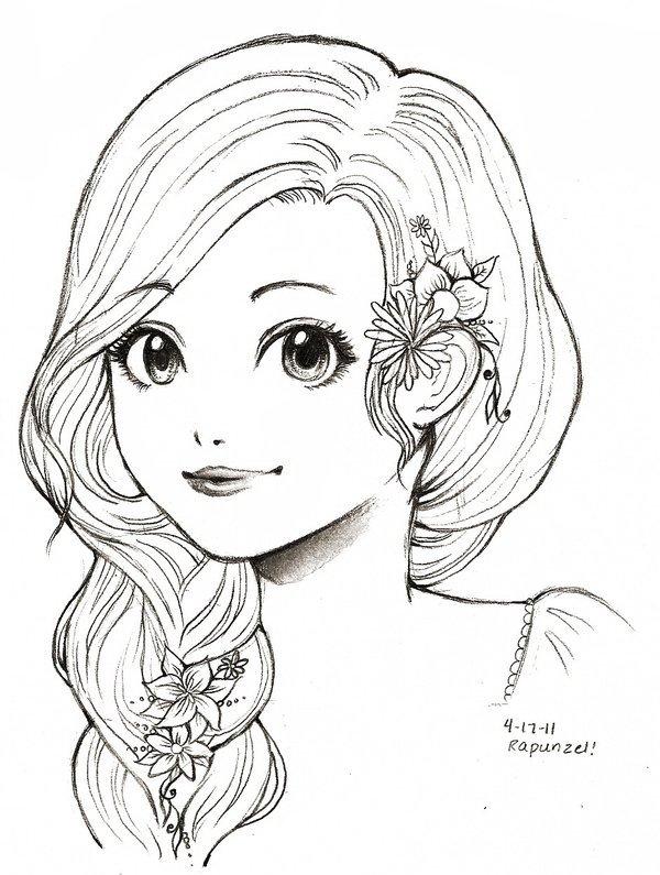 Девочка карандашом