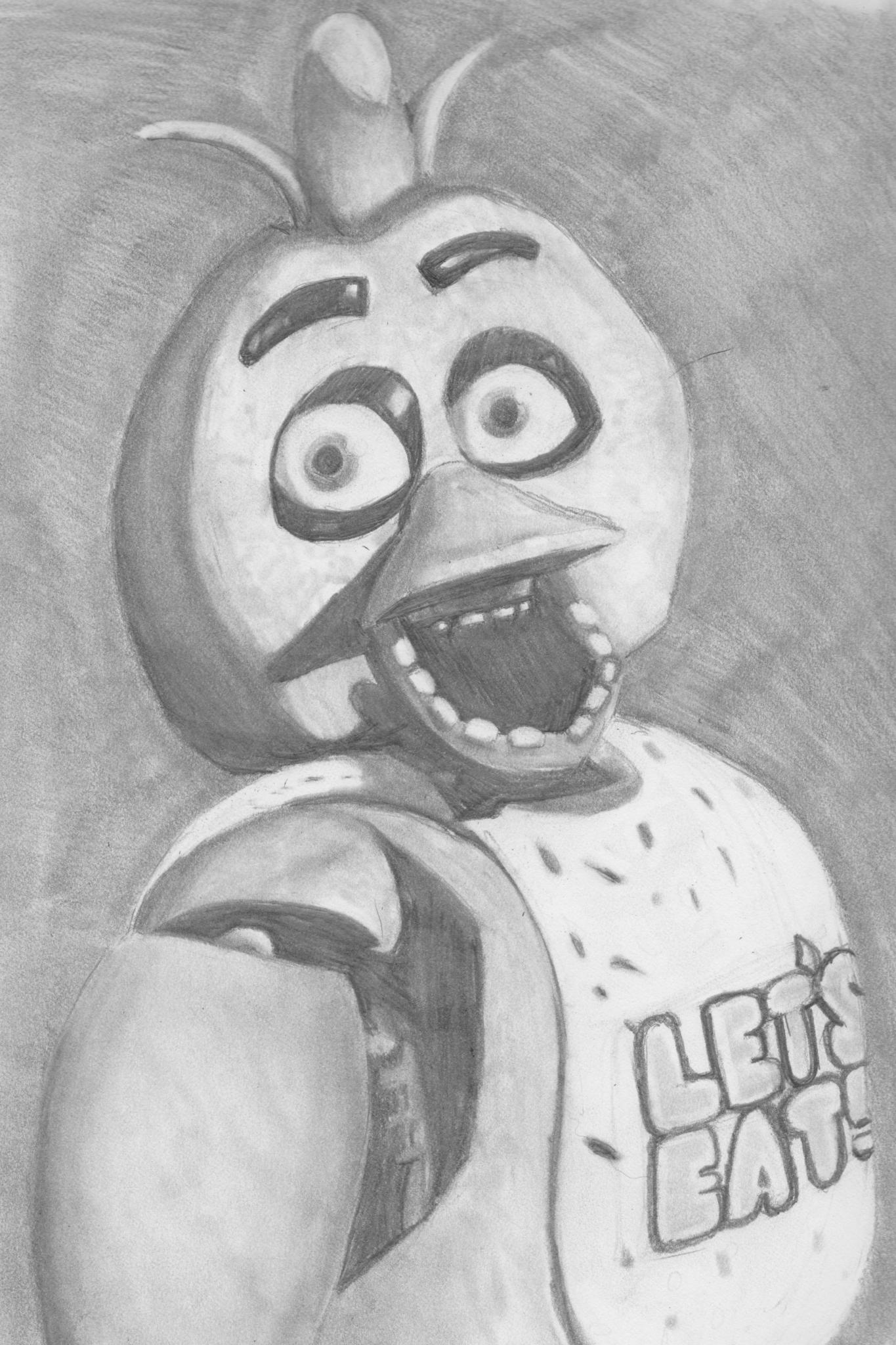 Шоколадница, легкие рисунки карандашом прикольные аниматроники