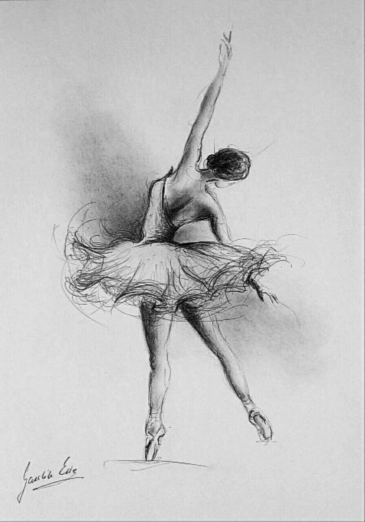 Картинки с балериной карандашом