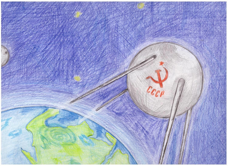 Легкие рисунки космос карандашом