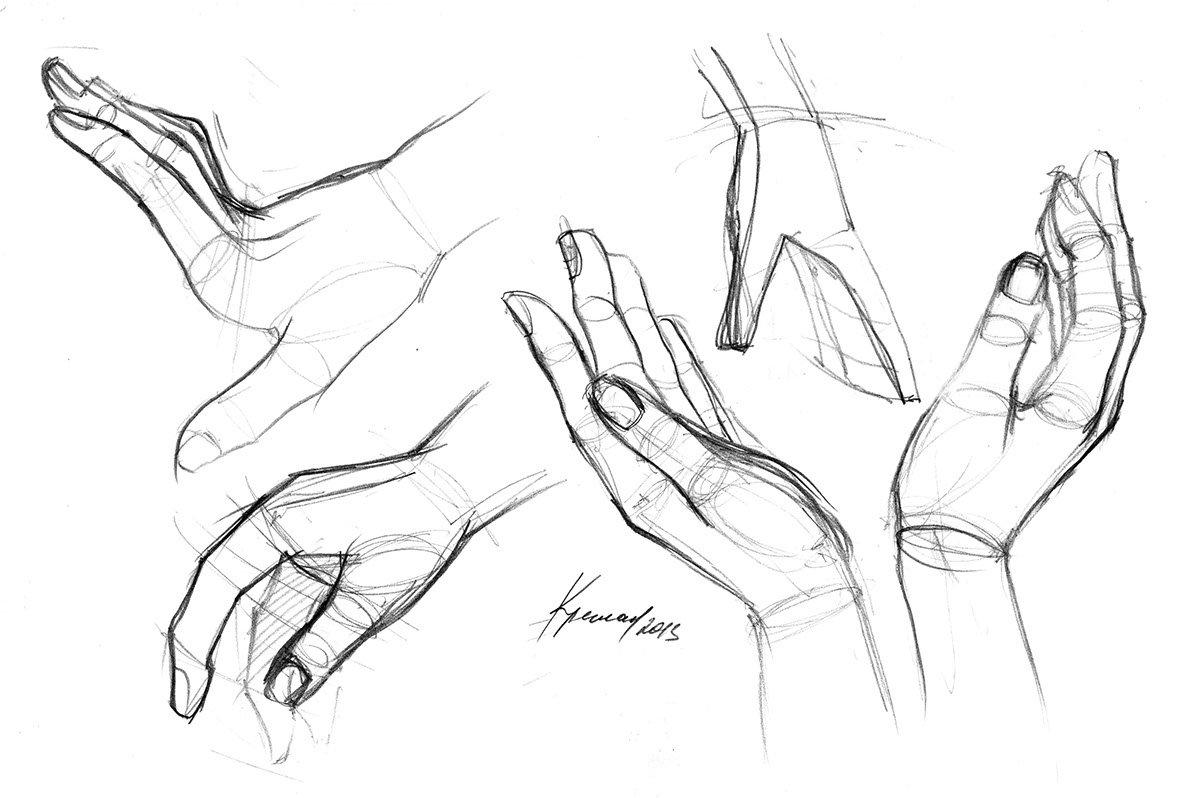 Картинка нарисованных рук