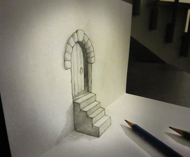 Объемные рисунки карандашом