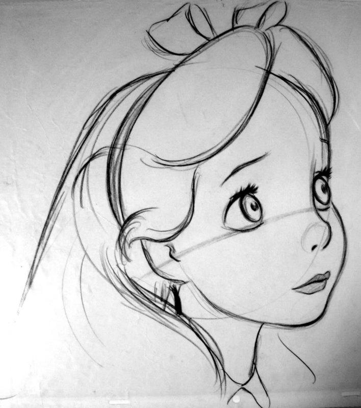 Картинки для перерисовки для девочек карандашом