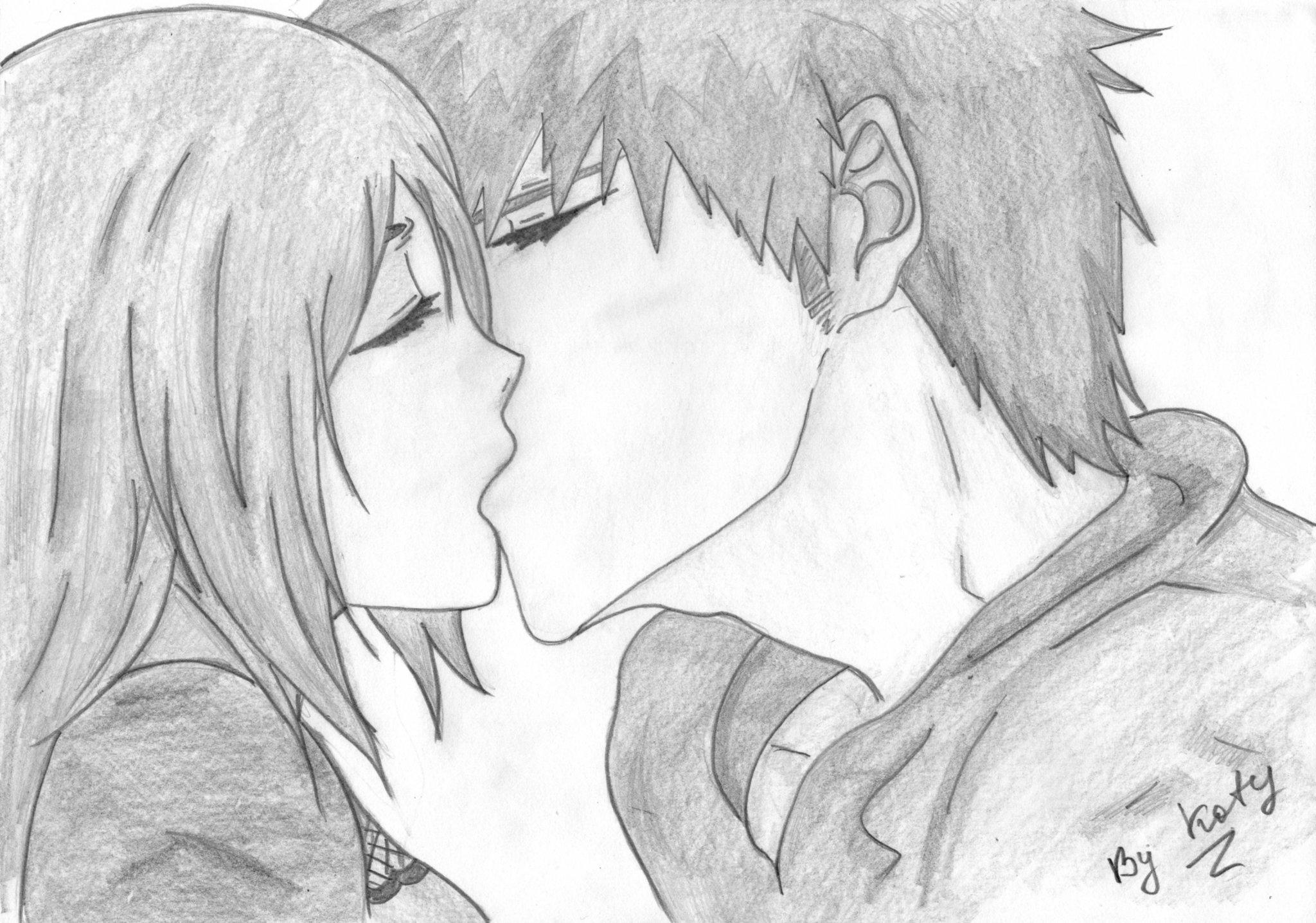 первую картинки для срисовывания карандашом поцелуй метель танцует