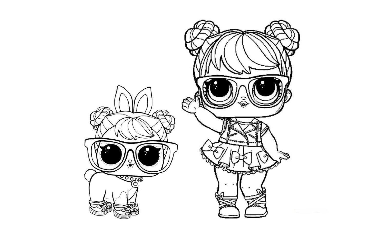 Раскраски для девочек куклы ЛОЛ распечатать: питомцы