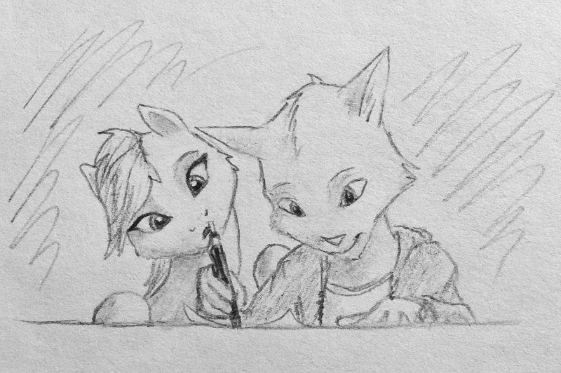 Рисунок карандашом пони