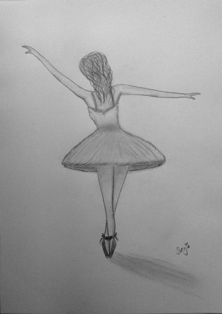 Днем рождения, картинки балерина для срисовки карандашом