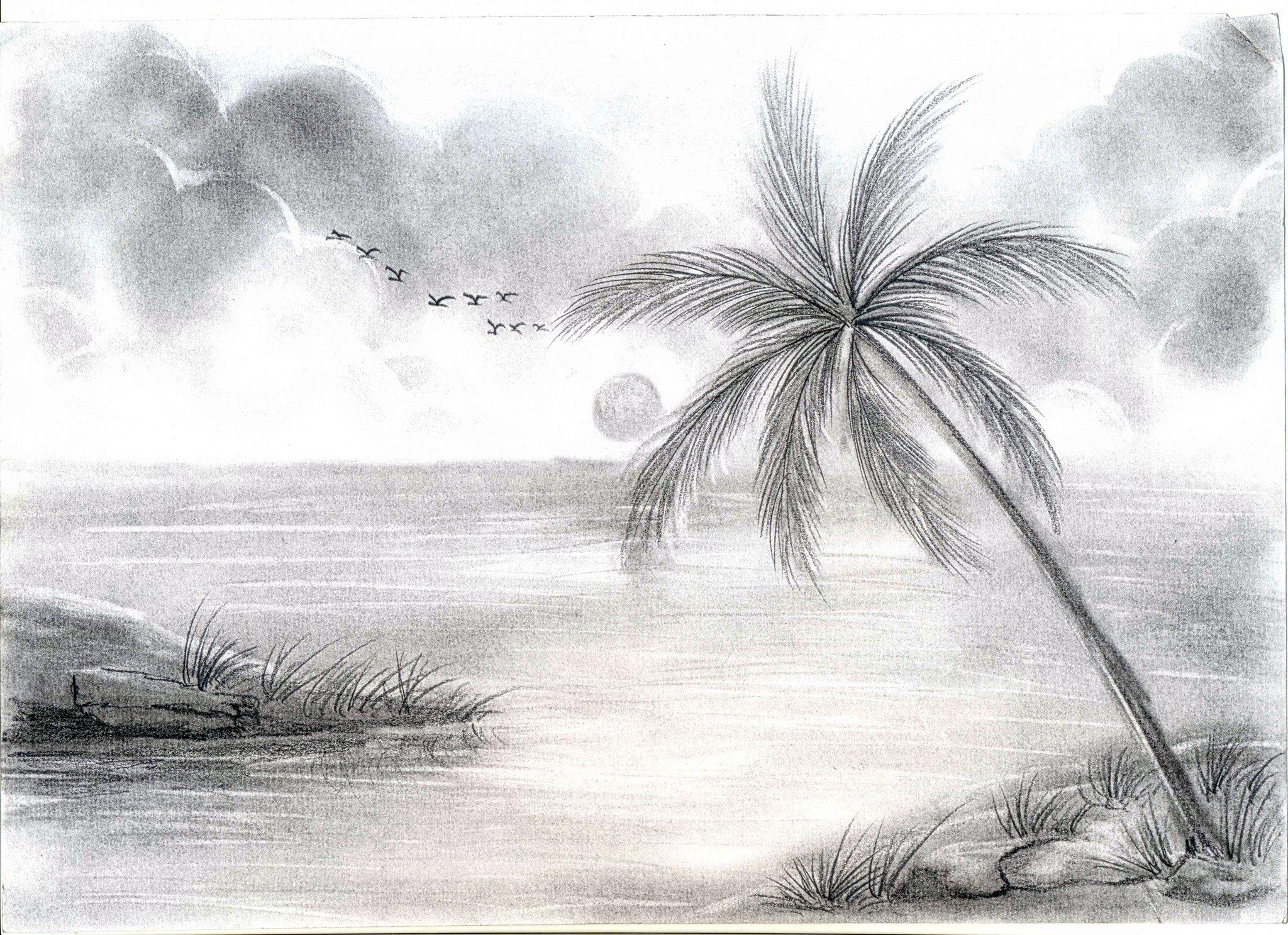 цены рисунки карандашом легкие и красивые пейзажи загружайте