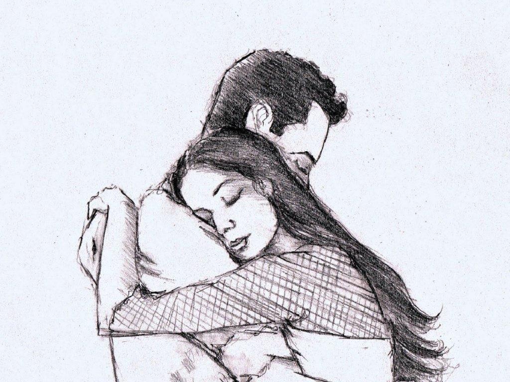 Влюбленные картинки нарисованные карандашом, летию