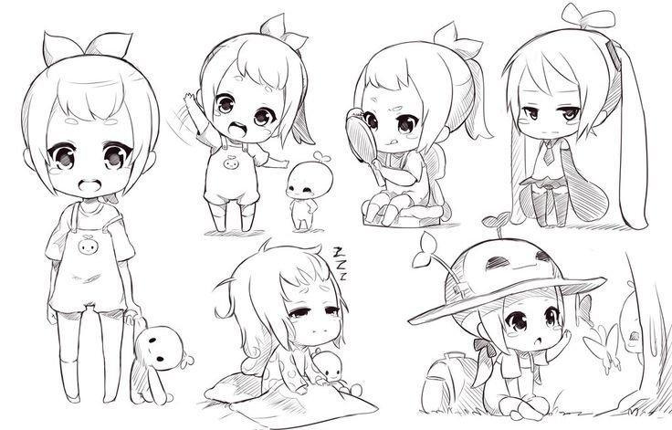 Няшные рисунки карандашом