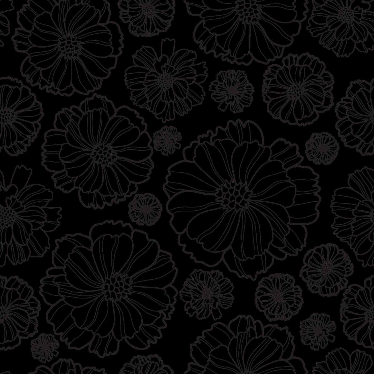 Черно-белые картинки цветов для распечатки