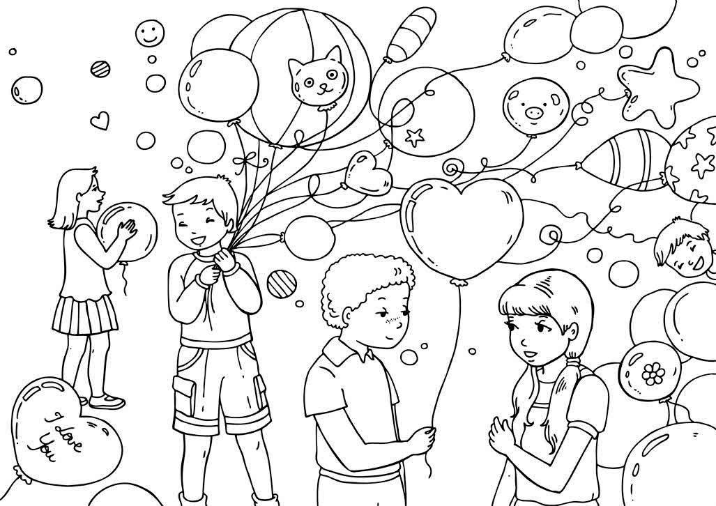 Рисунок к дню защиты детей карандашом