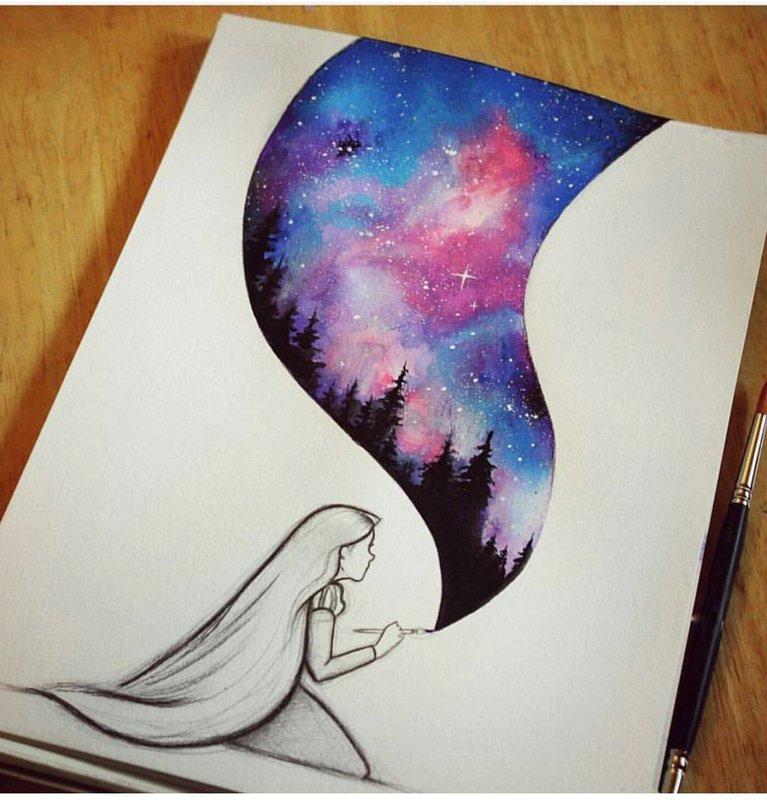 Рисунки для личного дневника: идеи