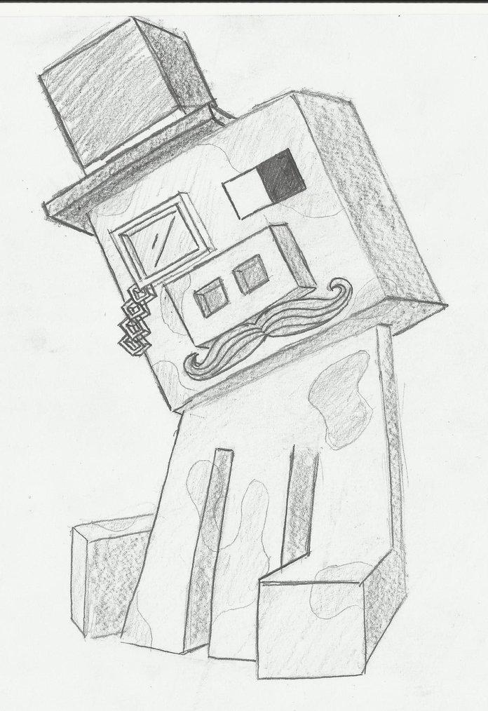 Крутые рисунки майнкрафт карандашом