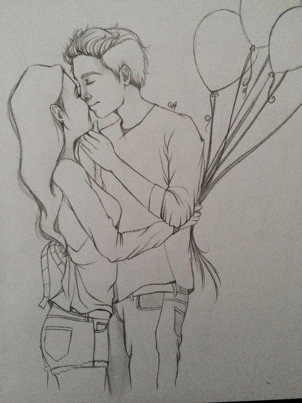Картинки рисунки про любовь карандашом поэтапно