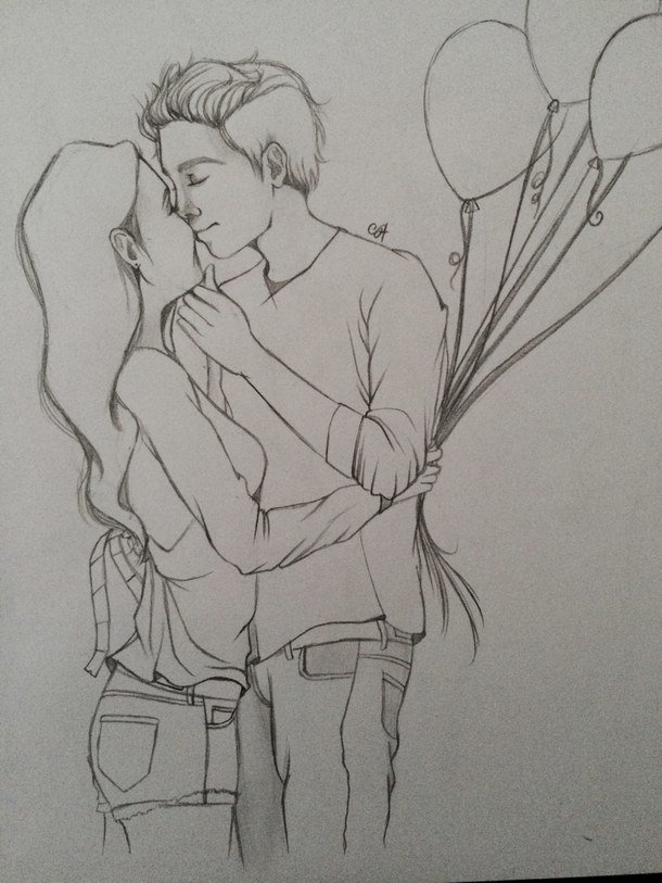 Рисунок девушке от парня