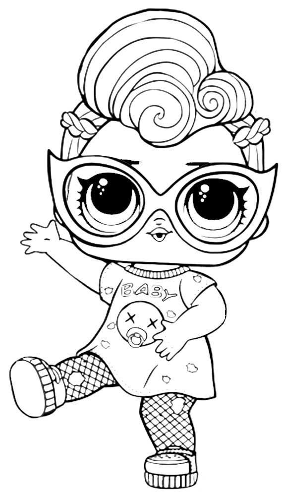 Картинки кукол ЛОЛ для срисовки