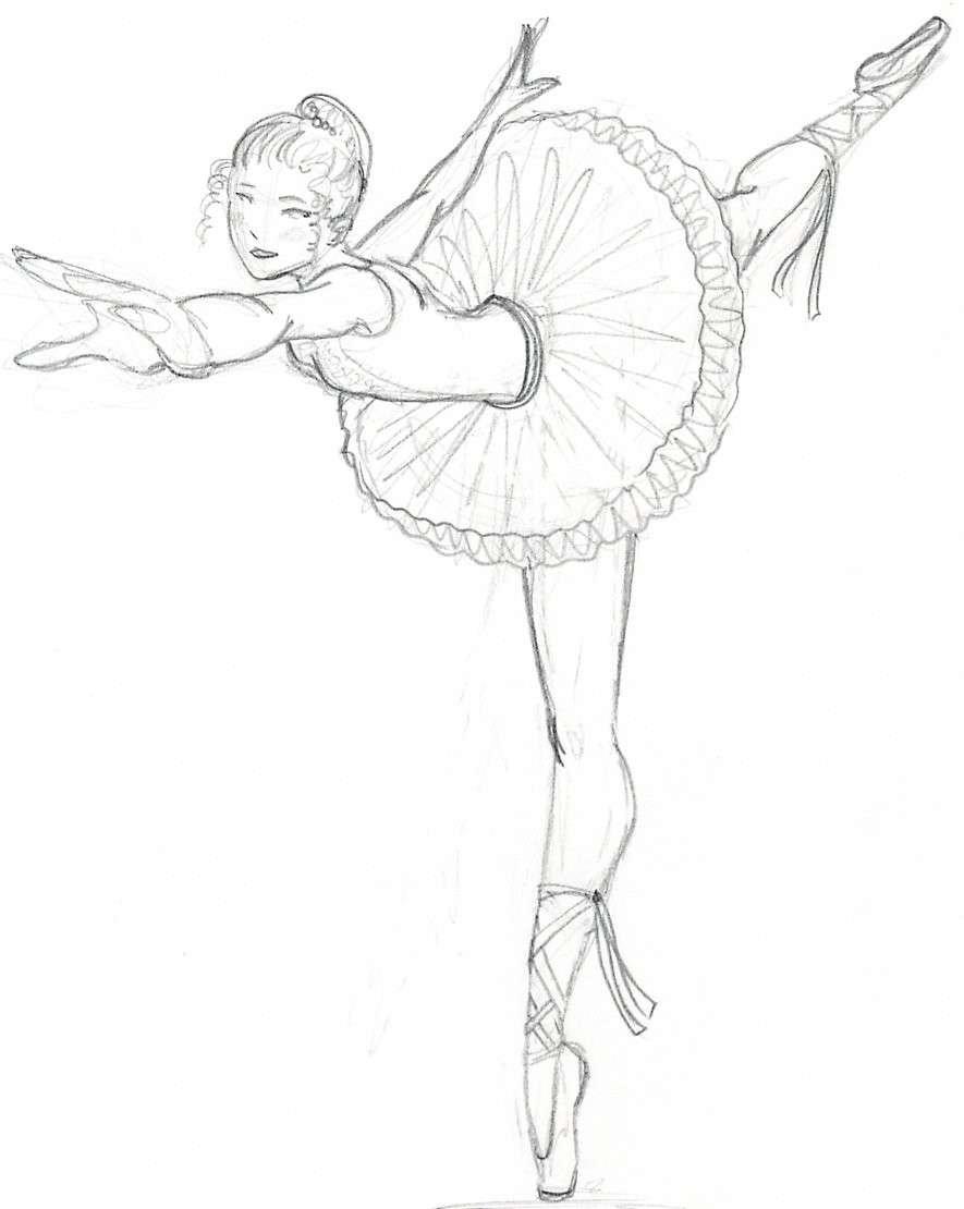 запущенном картинки поэтапно карандашом балерин геленджике способна