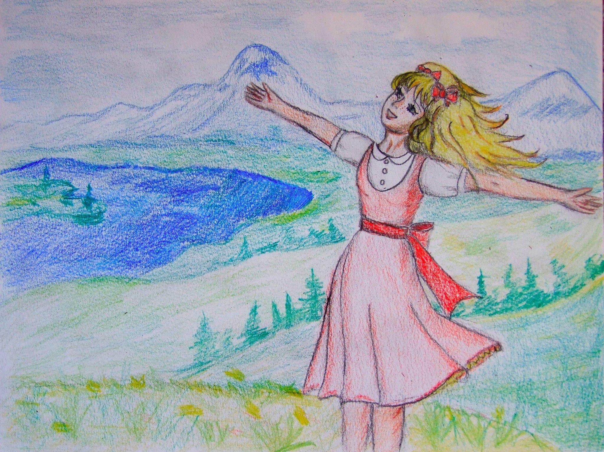 Рисунок на тему мои летние каникулы