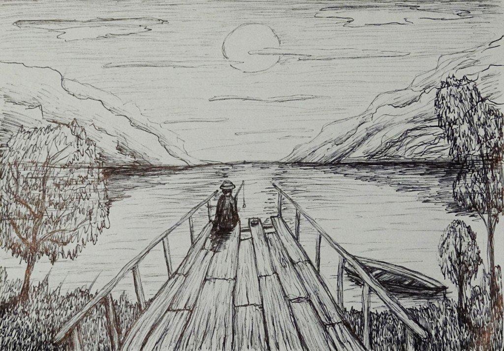 рисунки простым карандашом поэтапно пейзаж верно излечиваю