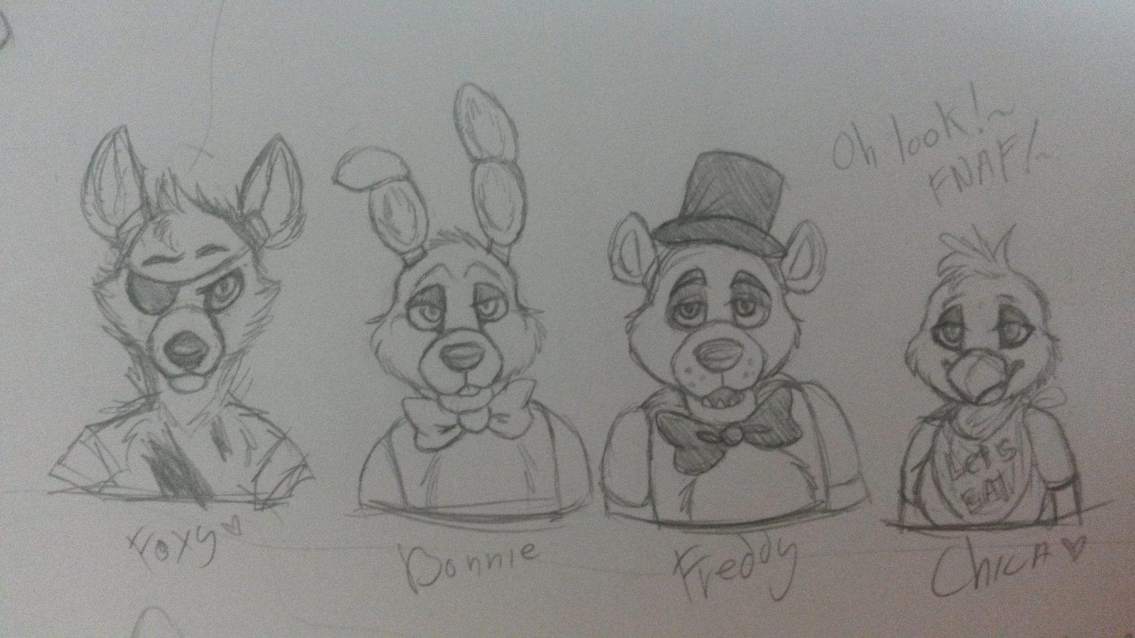 Картинки персонажей фнаф для срисовки