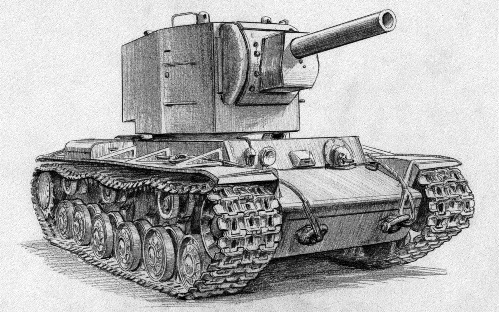 это картинки для рисования танк роза