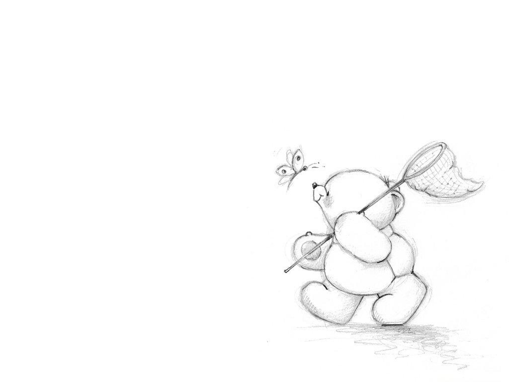 Прикольные картинки мишек карандашом веры