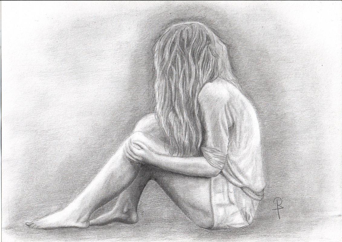 Картинки грусные с карандашом