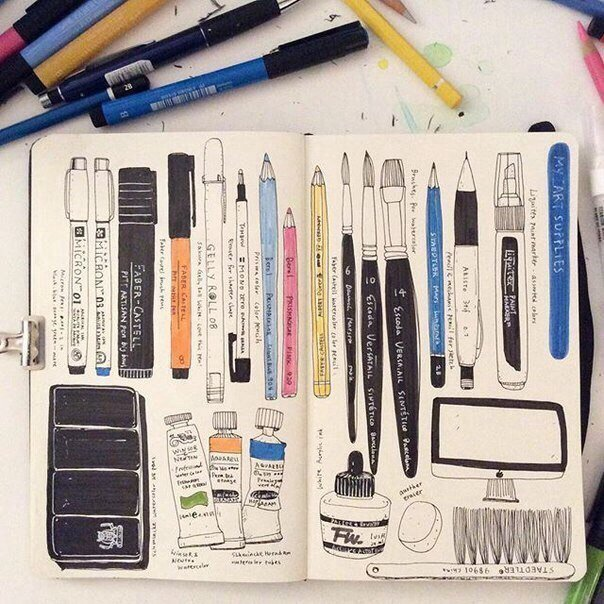 Рисунки для срисовки легкие и красивые для девочек