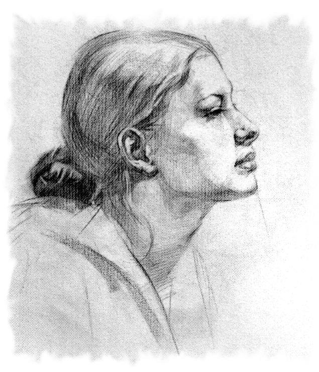 Лицо в профиль карандашом картинки