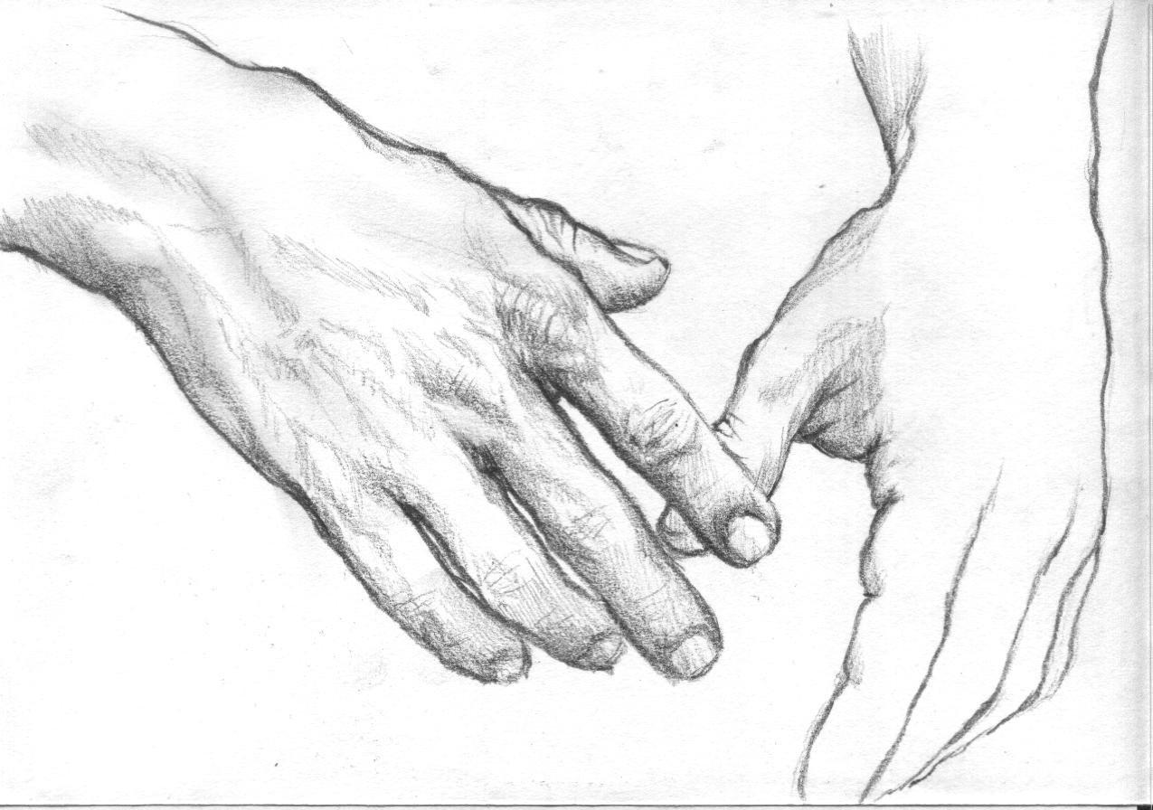 Женские руки карандашом картинки