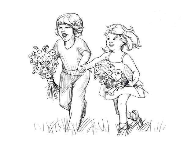 Рисунок карандашом на День защиты детей