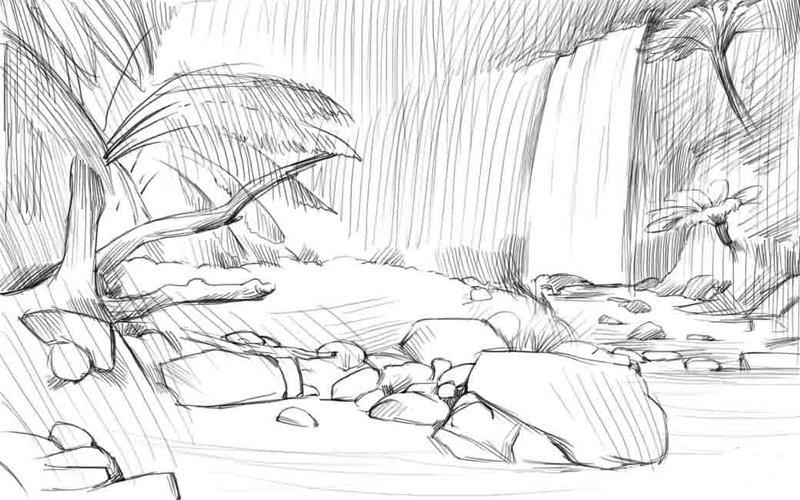 Природа: рисунок карандашом
