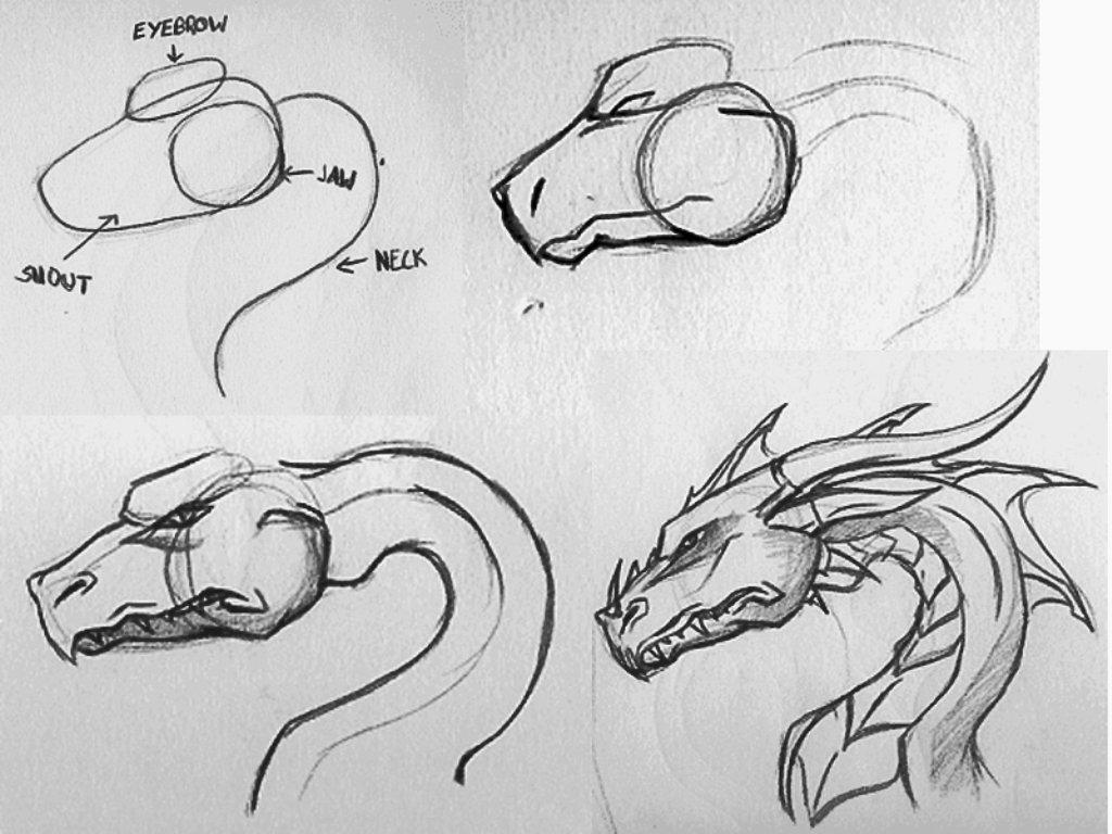 картинки как нарисовать дракона легко нежная мягкость уютное