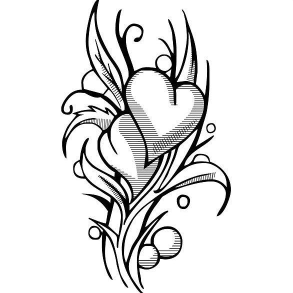 Сердце карандашом для ЛД