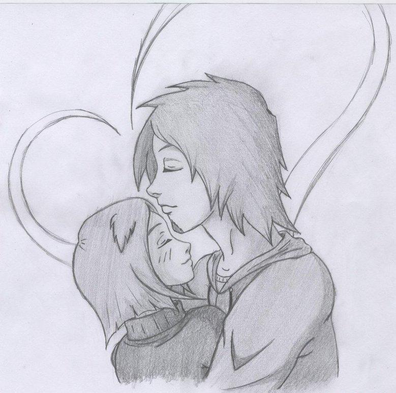 Картинки карандашом рисовать про любовь