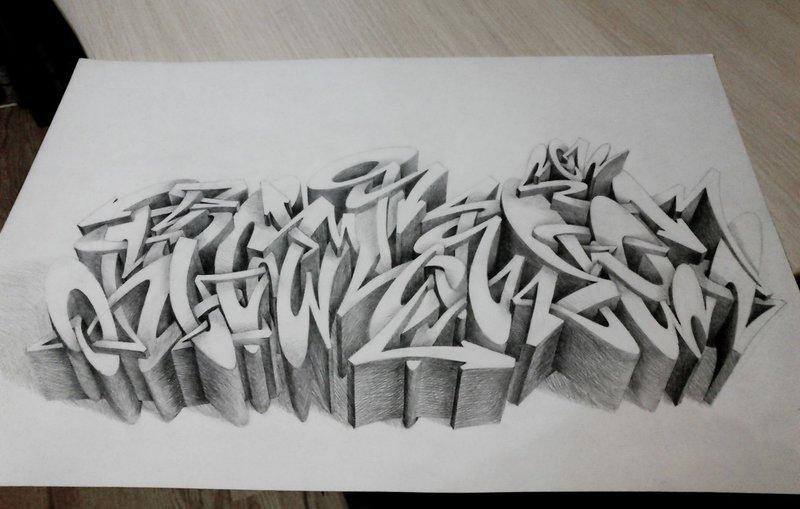 Рисунки граффити карандашом