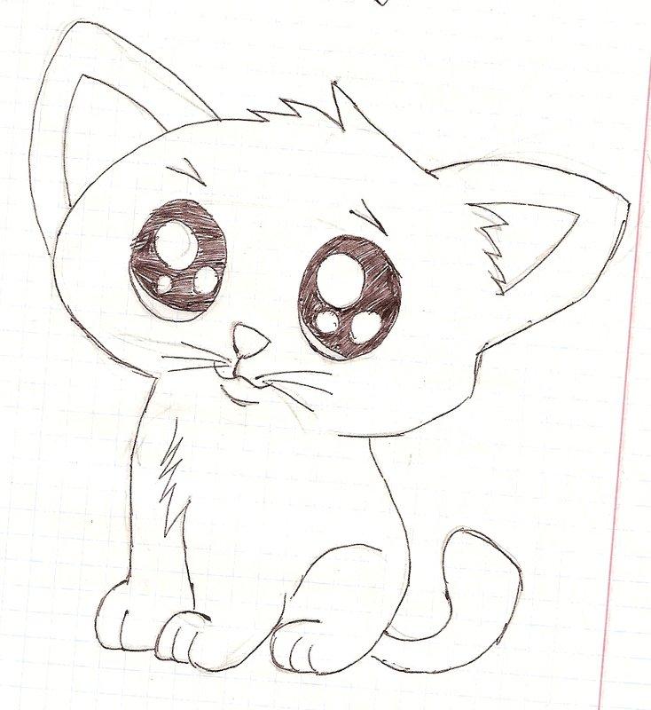 Картинки котов для рисования легкие красивые