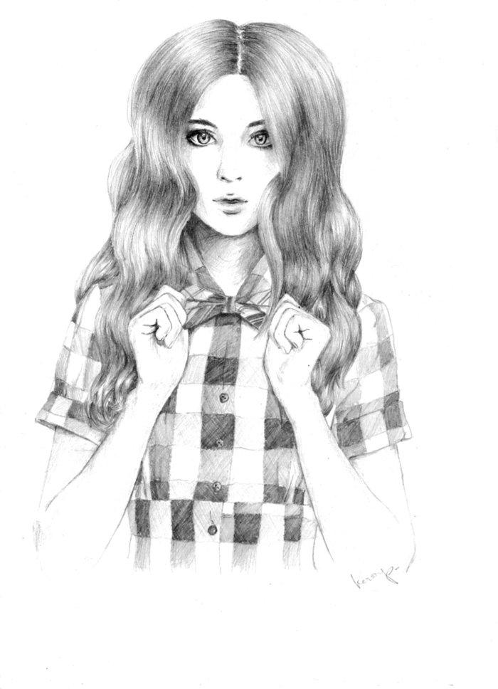 Классные картинки карандашом девушек