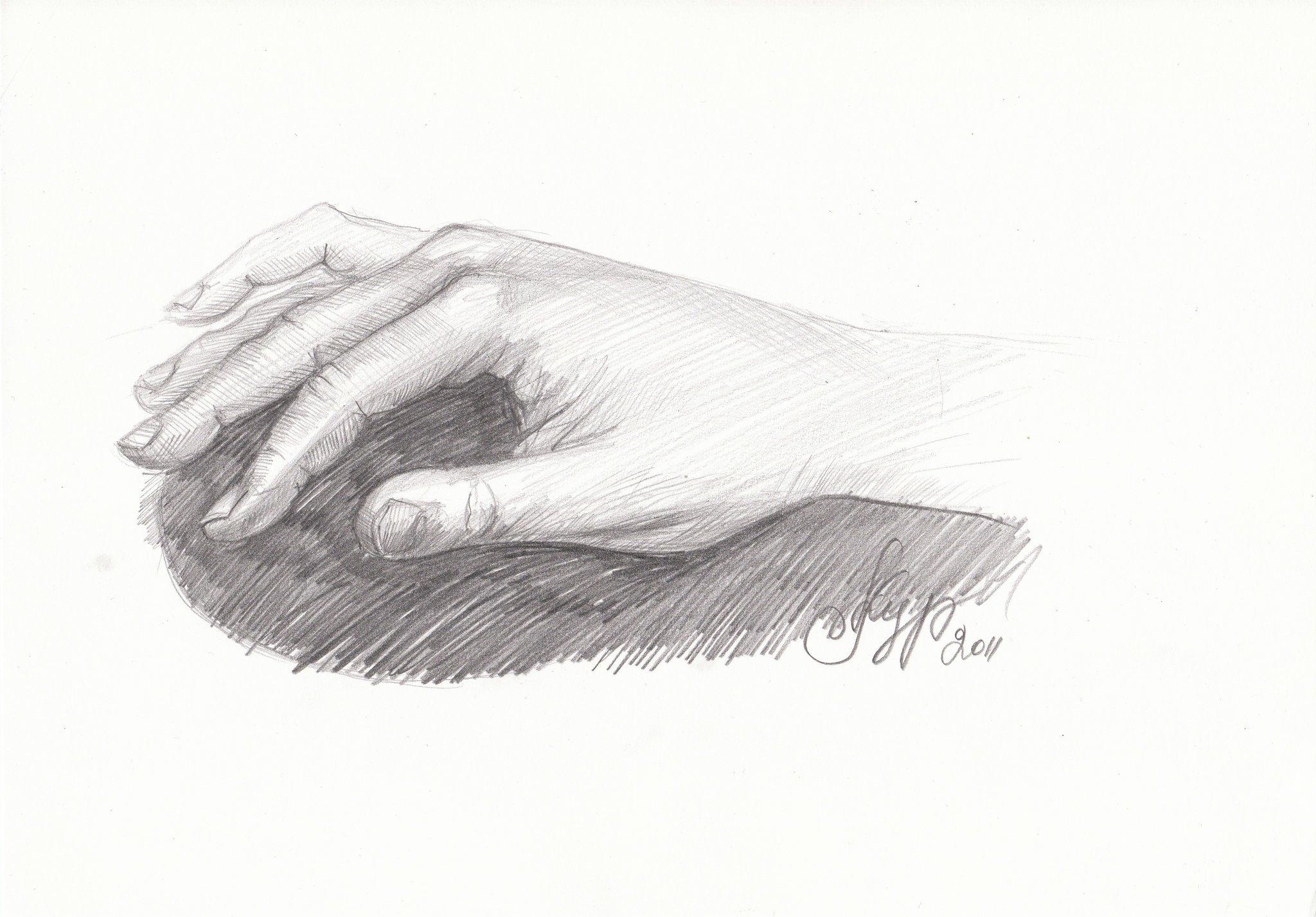 Картинка карандашом рука