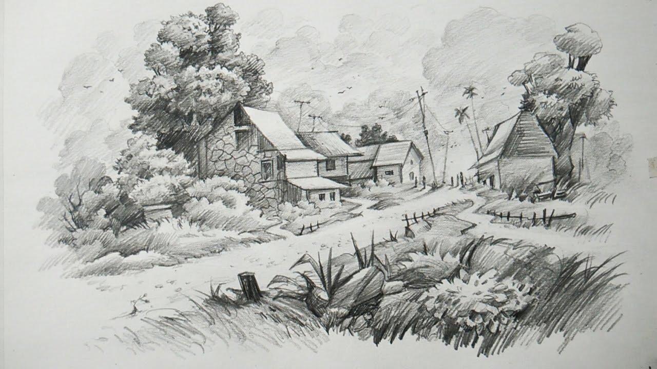 молодости картинки карандашом пейзаж в разных странах летом фудзивара
