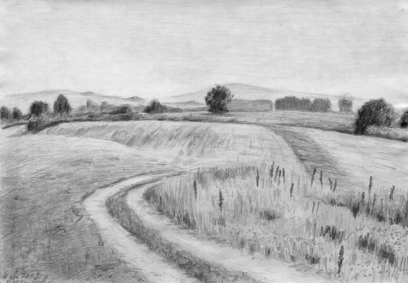 Пейзаж: рисунок карандашом