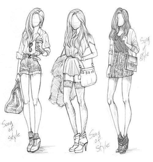 Рисунки поэтапно карандашом для подростков