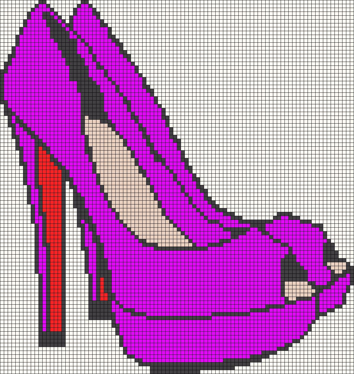Рисунки каблуки по клеточкам