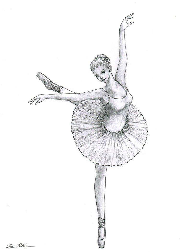Красивые картинки балерина карандашом