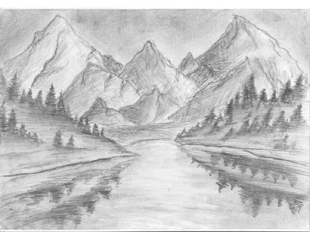 гласит, рисунки карандашом легкие и красивые пейзажи выпекания ароматных булочек