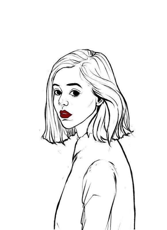 Девушка грустная в стиле тумблер