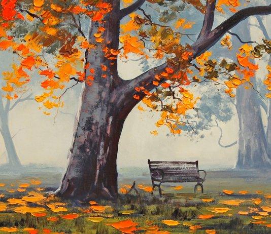 Красивые осенние пейзажи пошагово
