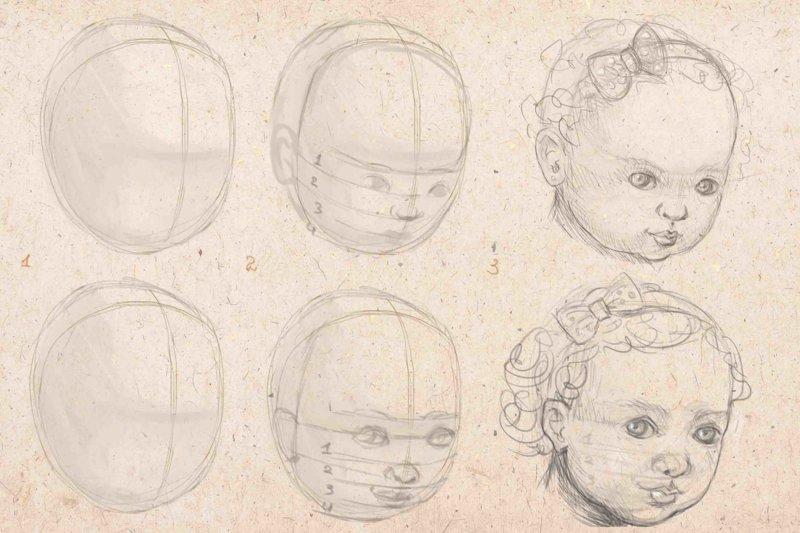 Рисунки для срисовки поэтапно карандашом